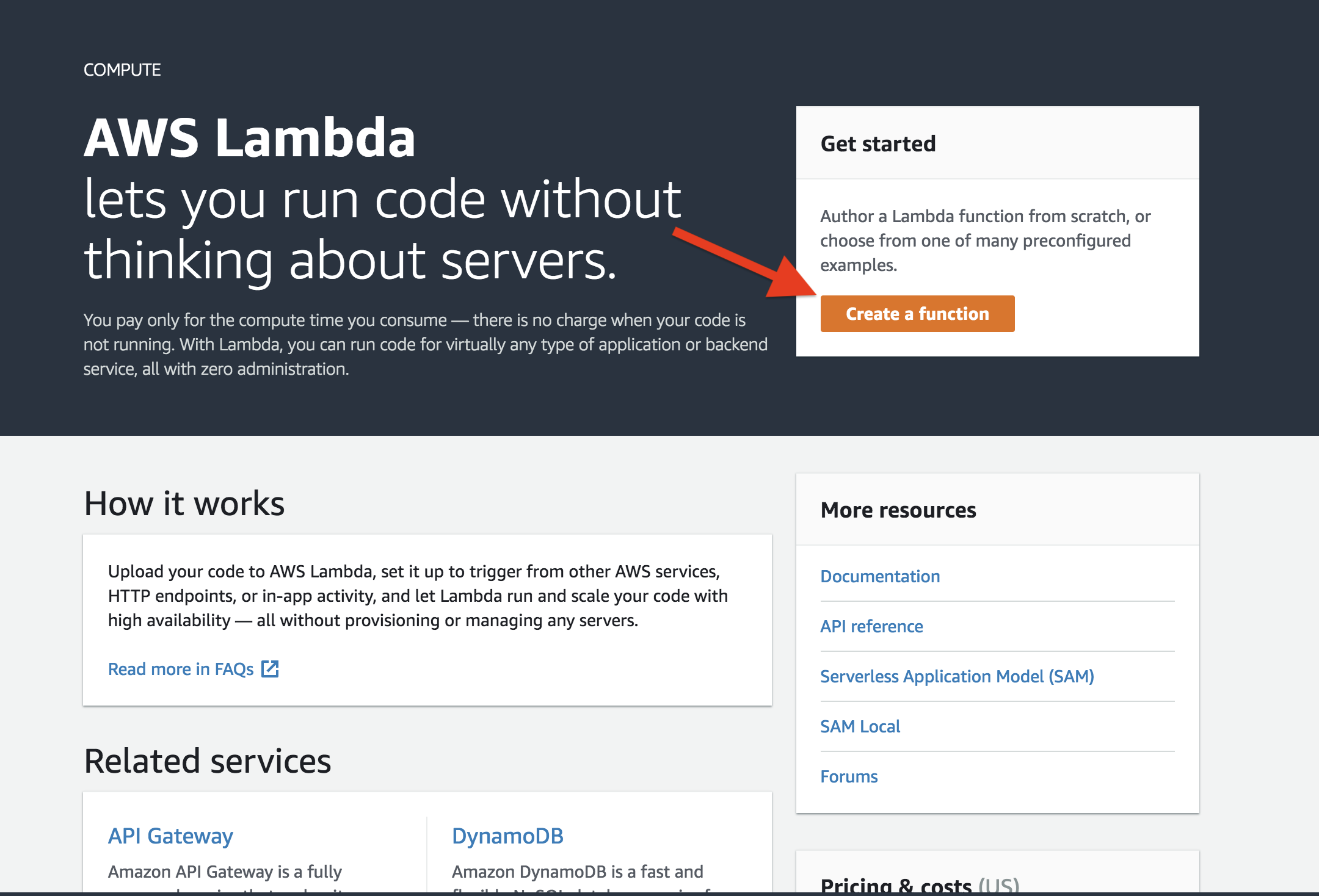 Processing forms on amp pages with amazon api gateway and aws lambda aws lambda create function malvernweather Image collections